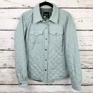 Marmot Sea Foam Riley Insulated Snap Shirt Jacket